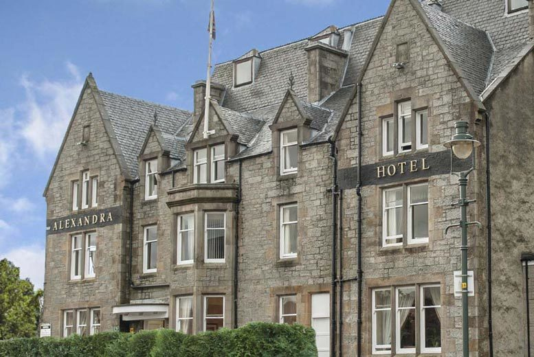 Image of A Fort William stay at Alexandra Hotel for two with three-course dinner and coffee on first night, one welcome drink each, tea, coffee and biscuits on arrival, breakfast and 12pm late check out. £85 for one night, or £145 for two nights - save up to 56%