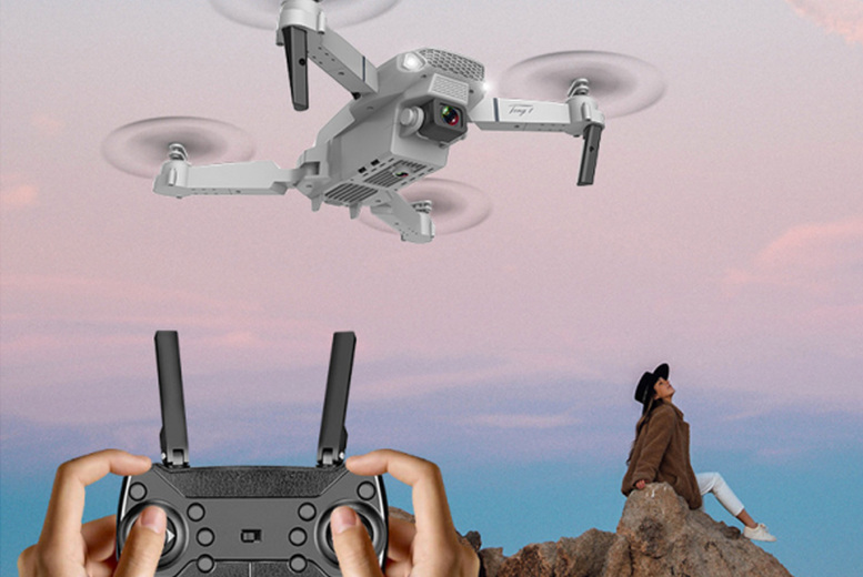 Image of £29 instead of £69.99 for a E88 4K wide-angle camera drone in black or grey from My Brand Logic - save 59%