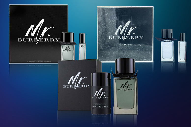 Image of From £32.99 of for a Mr Burberry eau de toilette gift set from Beauty Scent - save up to 17%