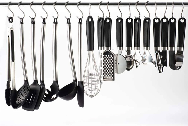 Image of From £5.99 for 20 stainless steel hanging hooks from Wishwhooshoffers - choose your size!