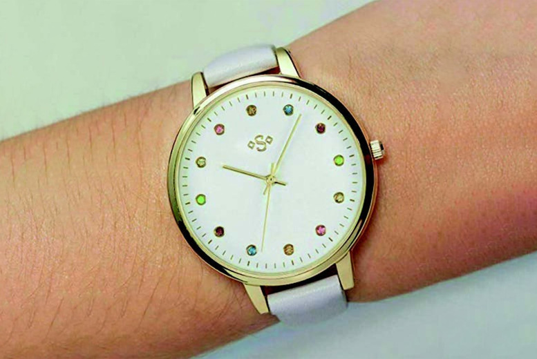 Image of £12 instead of £29.99 for a ladies gold case dial Spirit watch from Personal Choice - save 60%