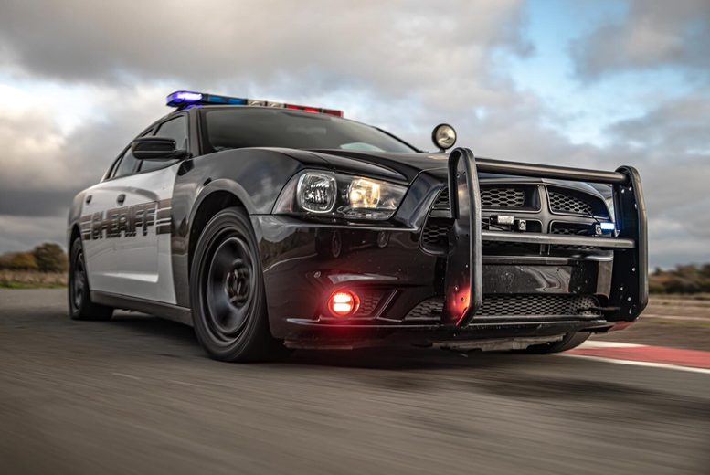 Image of £39 instead of £78 for an 8-lap Police Dodge Charger Hemi V8 driving experience at Drift Limits, Hemel Hempstead. £59 for 12-laps - save up to 50%