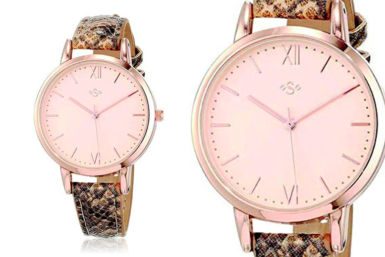Image of £14 instead of £34.99 for a women's snakeskin effect watch from Personal Choice - save 60%