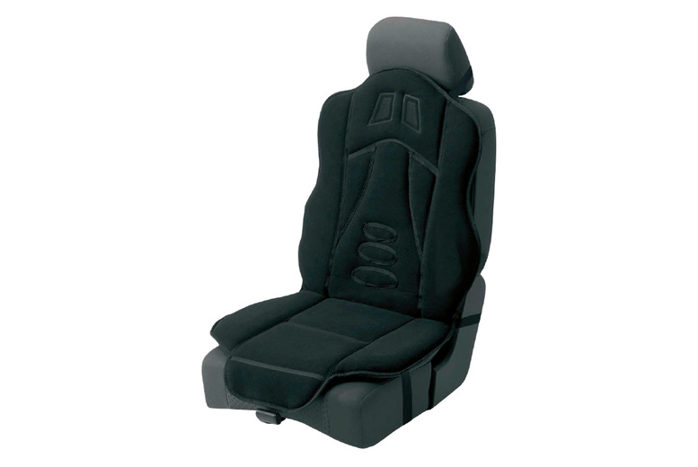 Image of £17.99 for a black padded car seat cushion