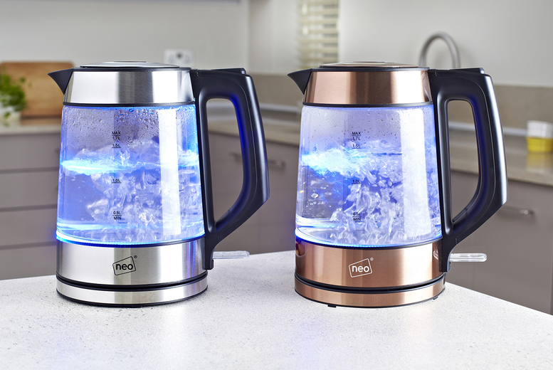 Image of £19.99 instead of £65 for a Neo cordless Nordic illuminated LED glass kettle from Neo Deals - save 69%