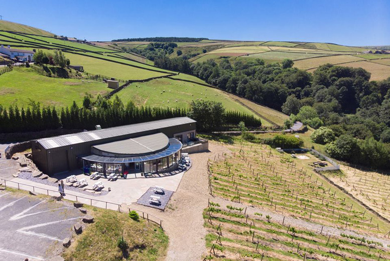 Image of £35 instead of £55 for a sparkling afternoon tea at Holmfirth Vineyard, Holmfirth with wine tasting and vineyard tour for two people - save 36%