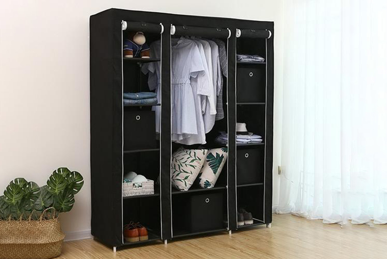 Image of £24.99 instead of £49.99 for a durable portable clothes wardrobe from Cufflinks Gift Hub Limited - save 50%