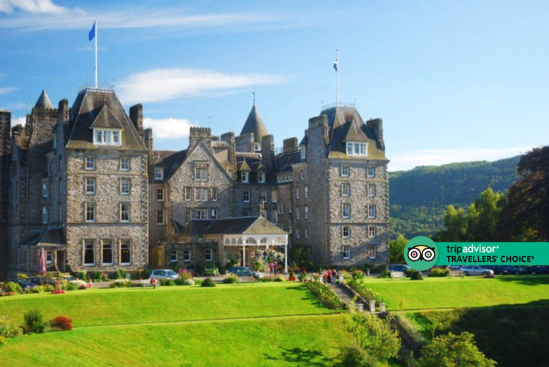 Image of A Perthshire stay at 4* Atholl Palace Hotel for two people with breakfast, three-course dining, one bottle of Prosecco, complimentary chocolates and savoury snacks. From £169 for one night, from £218 for two nights - save up to 53%