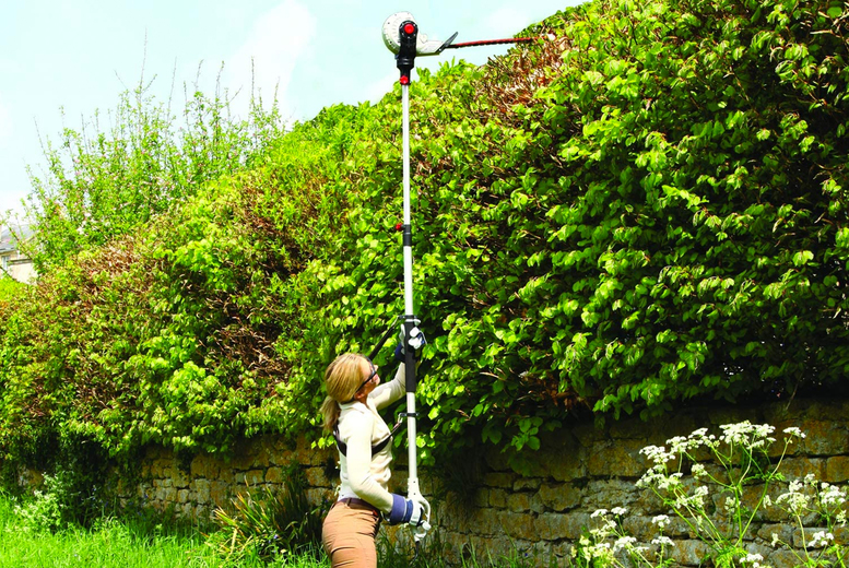 Image of £65 instead of £137.99 for a lightweight Eckman telescopic hedge trimmer from Personal Choice - save53%