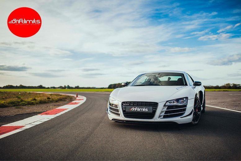 Image of £39 instead of £78 for an 8-lap Audi R8 driving experience, or £59 for 12-laps from Drift Limits, Hemel Hempstead - save up to 50%
