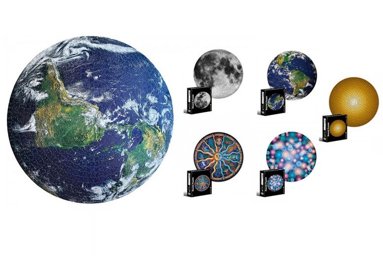 Image of £12.99 instead of £29.99 for a circle jigsaw puzzle in Earth, moon, gold, fireworks or 12 constellations designs, or £21.99 for two jigsaws from Pinkpree - save up to 57%