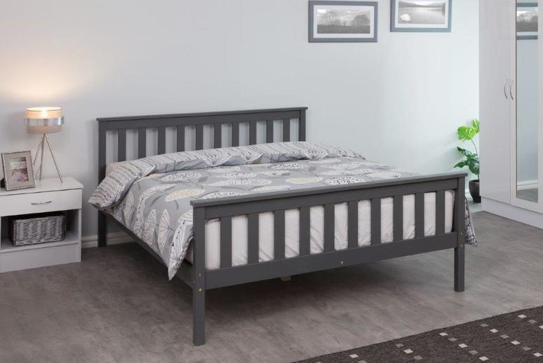Image of From £39 instead of £149.99 for a pinewood bed frame, from £99 for a bed frame and mattress from Buyer Empire - save up to 74%