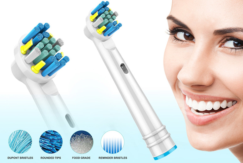 Image of From £3.99 for a pack of replacement Oral-B compatible toothbrush heads - choose from a pack of four, eight, 16, 24 or 48