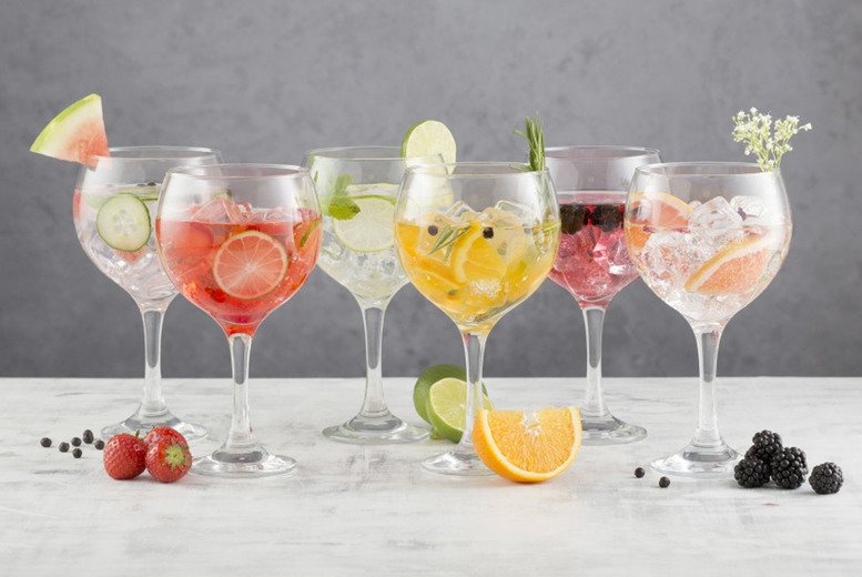 Image of £10.99 instead of £14.99 for a set of six 65cl Ravenhead gin glasses, £19.99 for a pack of 12 or £32.99 for a pack of 24 from Mahahome - save up to 27%