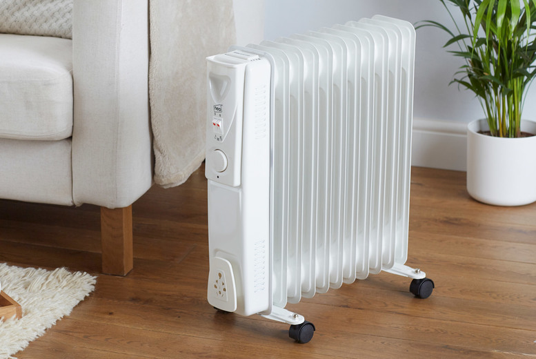 Image of £22.99 instead of £75 for a 7-fin electric oil filled radiator, £29.99 for a 9-fin radiator or £34.99 for an 11-fin radiator from Neo Deals - save up to 69%