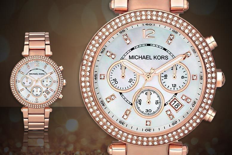 Image of £99 instead of £279 for a ladies Michael Kors MK5491 rose gold Parker watch from CJ Watches - save 65%