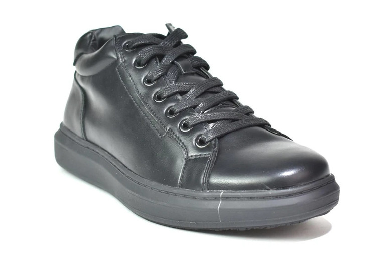 Image of £12.99 for men's black lace up trainers from Shoefest - choose from four UK sizes