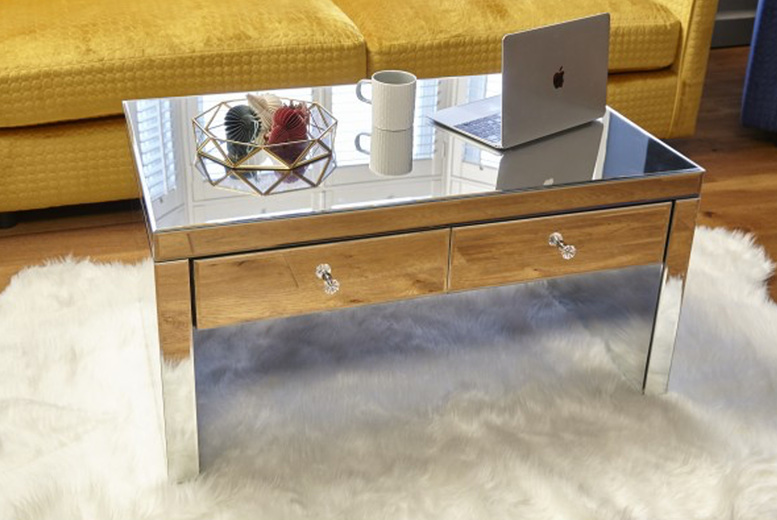 Image of £199 instead of £399.99 for a mirrored coffee table from Dreams Outdoors - save 50%