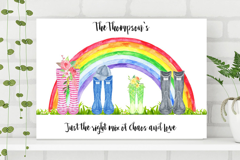 Image of From £7.95 for a personalised welly print - Colour House - choose from three sizes