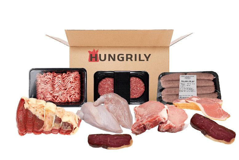 Image of £4 for 50% off your basket at Hungrily - enjoy a range of food boxes including meat, fish, vegan, dairy boxes and more!