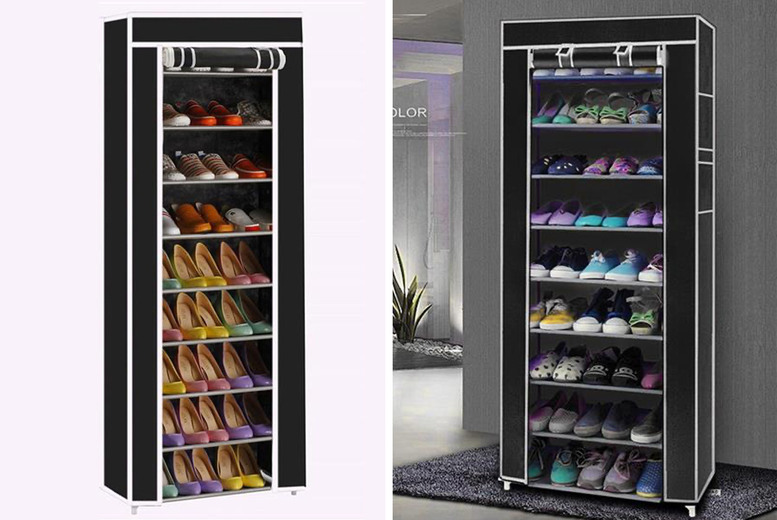 Image of £16.99 instead of £39.99 for a ten-layer shoe rack from Cufflinks Gift Hub – save 58%
