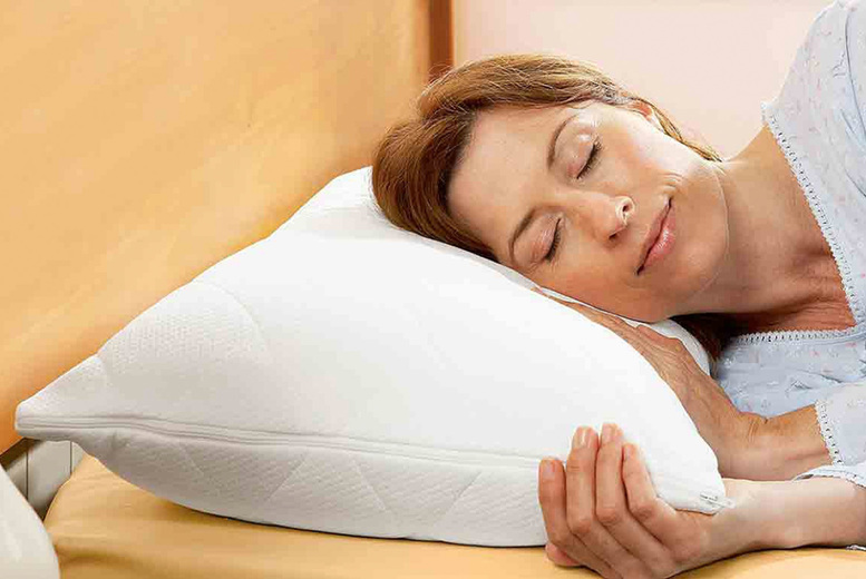 Image of £12 instead of £16.99 for a hotel quality goose feather and down pillow from Chums - save 19%