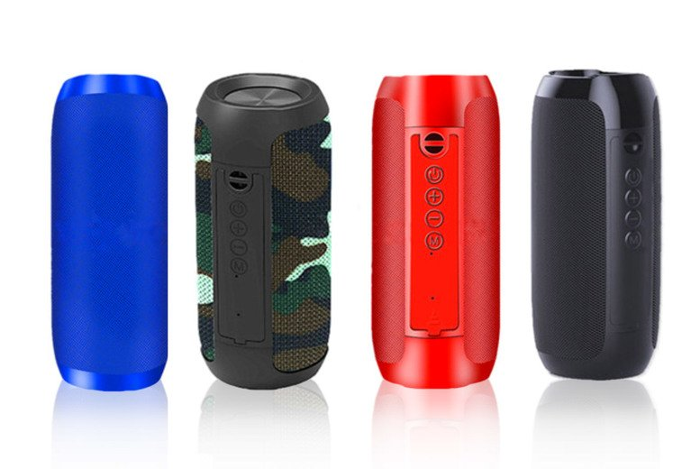 Image of £12 instead of £39.99 for a portable Bluetooth speaker in camo, black, blue or red from Groundlevel - save 70%