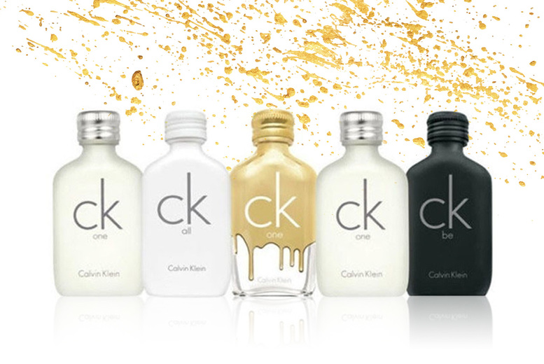 Image of £18.99 instead of £29.10 for a set of mini Calvin Klein fragrances including 10ml bottles of Be, One, One Gold and All from Beauty Scent - save 35%