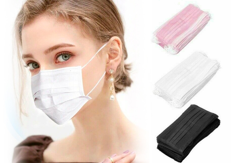 Image of From €9.99 (from Arther Gold) for a pack of 50 disposable face covers - choose from four colours!