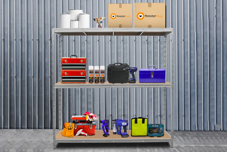 Image of £79 instead of £179.99 for a galvanised steel heavy-duty unit from Monster Shop - save 56%