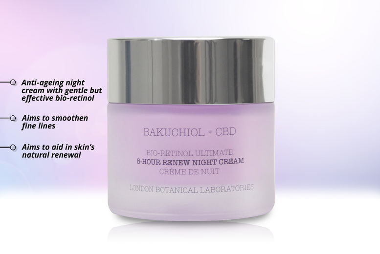 Image of From £17.99 instead of £79 for a 50ml Bakuchiol + CBD renew night cream from London Botanical Laboratories - buy one or two and save up to 77%