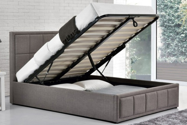 Image of From £139 instead of £315 for a fabric gas lift ottoman bed or from £259 for a gas lift ottoman bed and a memory sprung mattress from Buyer Empire - save up to 56%