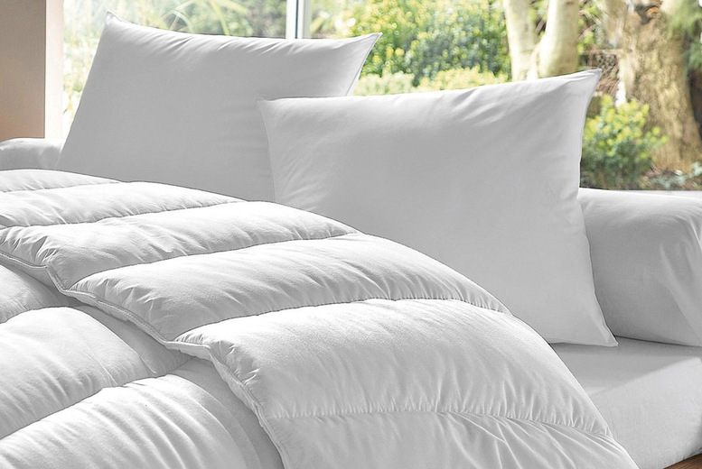 Image of £17.99 instead of £45 for a single 13.5 tog duvet and two pillows, £22 for a double set or £24.99 for a king size set from Chums - save up to 60%