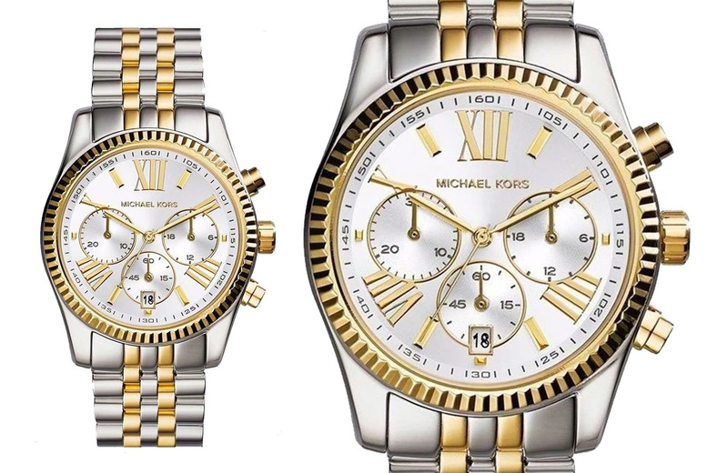 Image of £109 instead of £242.01 for a Michael Kors MK5955 lexington ladies chronograph watch from CJ Watches - save 55%