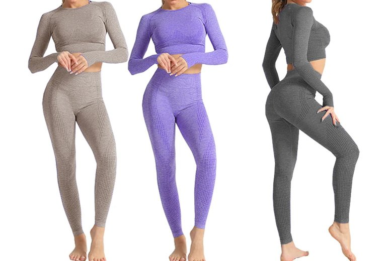 Image of £16.99 for a women's seamless two-piece workout set from Boni Caro!