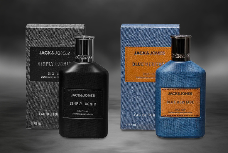 Image of £14.99 instead of £22.56 for a Jack & Jones Simply Iconic or Blue Heritage eau de toilette from Beauty Scent - choose your option and save 34%