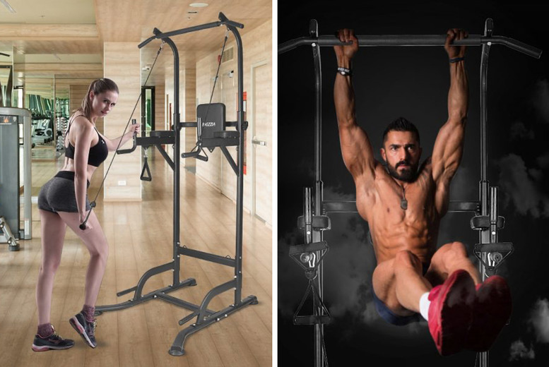 Image of £149 instead of £299.99 for a multi pull up power tower workout station from Rattix - save 50%