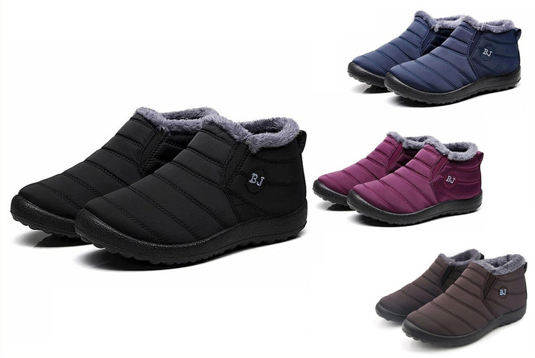 Image of £13 for a pair of women's fleece-lined ankle snow boots from Oh My Boo!