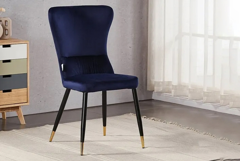 Image of £64 instead of £120 for a velvet chair from My Home Furniture - save 47%