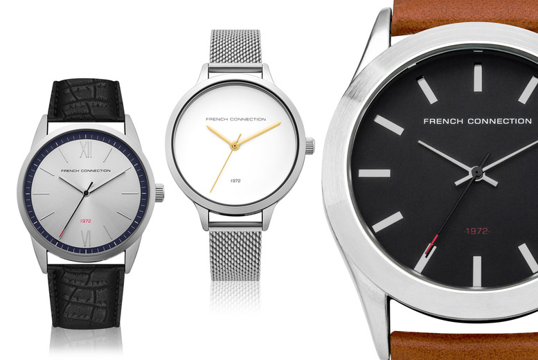 Image of £16 for an FCUK watch from Brand Arena - choose from 12 designs and save up to 64%