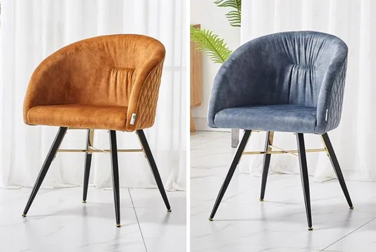 Image of £79 instead of £190 for an Athela LUX dining chair in grey, black, rust or golden tan from My Home Furniture - save 58%
