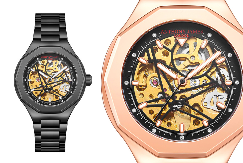 Image of £29.99 for an Anthony James skeleton sports watches from Timepieces!