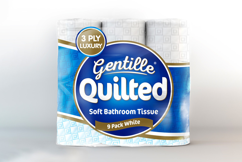 Image of £12.98 for a 54 pack of Gentille 3-ply toilet roll from Nova Tissue