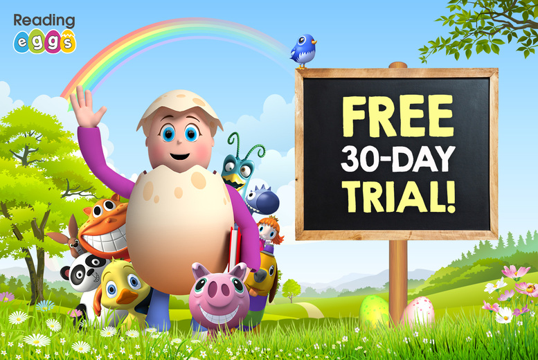 Image of A 30-day free trial to Reading Eggs & Mathseeds - discover the multi award-winning online learning platform designed to make learning fun and easy for children aged 2-13 through great games and activities!