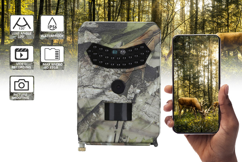 Image of £19.99 instead of £89.99 for a night vision wildlife camera, £25.99 for a camera and 16GB SD memory card or £29.99 for a camera and 32GB SD memory card from ForeFront Trading - save up to 78%