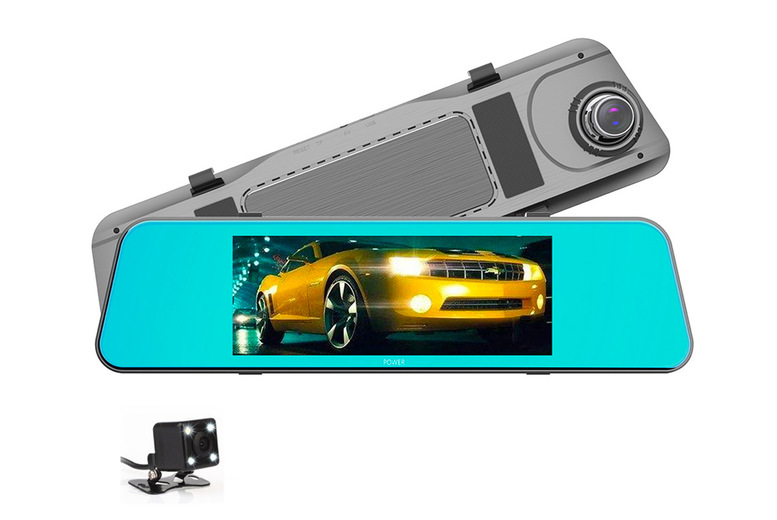 Image of £39 instead of £129.99 for a 7-inch touch screen dual lens mirror dash cam or £45 for a dash cam with a 32GB memory card from Maxwe - save up to 70%