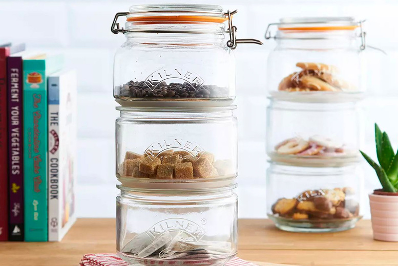 Image of £12.99 instead of £21 for a stackable jar set or £21 for two sets - save up to 38%