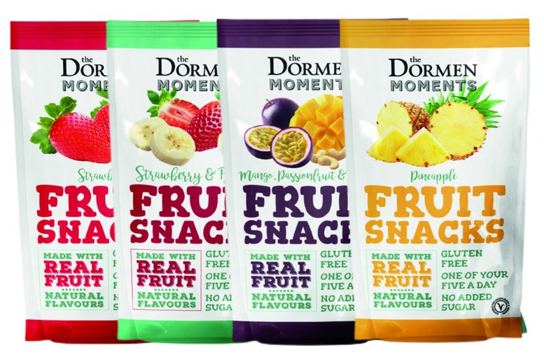 Image of £12.99 instead of £35 for a case of fruit snacks with 18 bags from The Dormen Food Company - choose from four flavours and save 63%