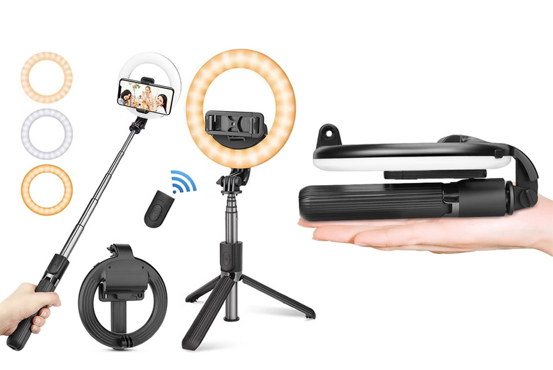 Image of £19.99 instead of £49.99 for a wireless LED ring light and remote from Forefront! - Save 60%