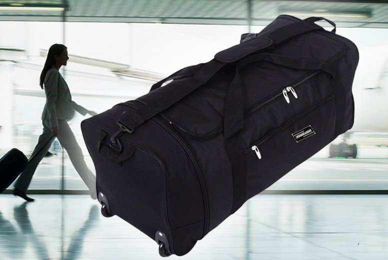 Image of £11.99 for an extra large folding wheeled bag from Luggage Heaven!